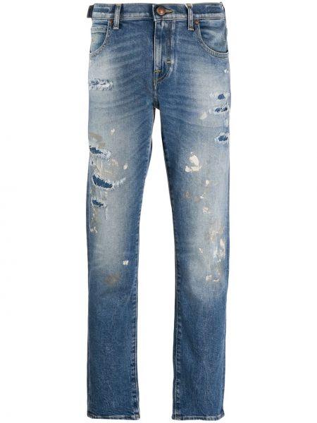 Прямые джинсы с низкой посадкой с нашивками Jacob Cohen