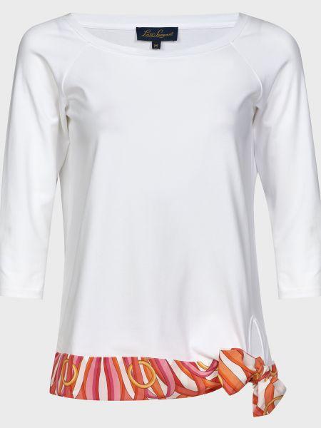 Хлопковая белая футболка Luisa Spagnoli