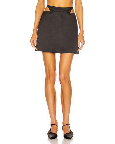 Восточная черная кожаная юбка Sandy Liang