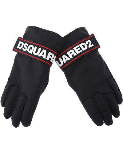 Czarne rękawiczki Dsquared