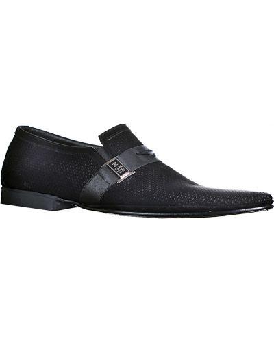 Черные замшевые туфли Fabi