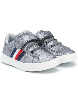 Srebro koronkowa włókienniczy sneakersy na sznurowadłach Tommy Hilfiger Junior