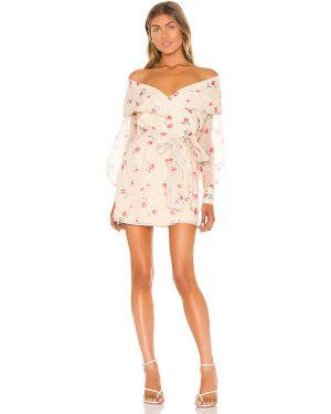 Sukienka mini dżinsowa w kwiaty L'academie