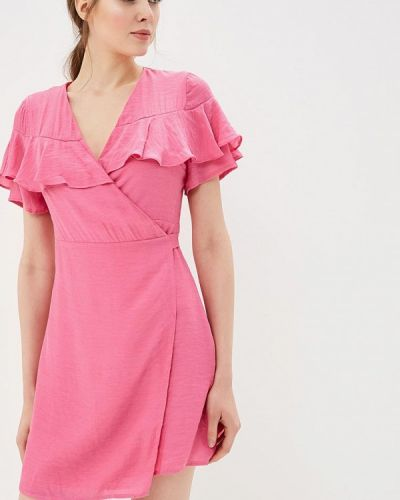Розовое платье с запахом Glamorous
