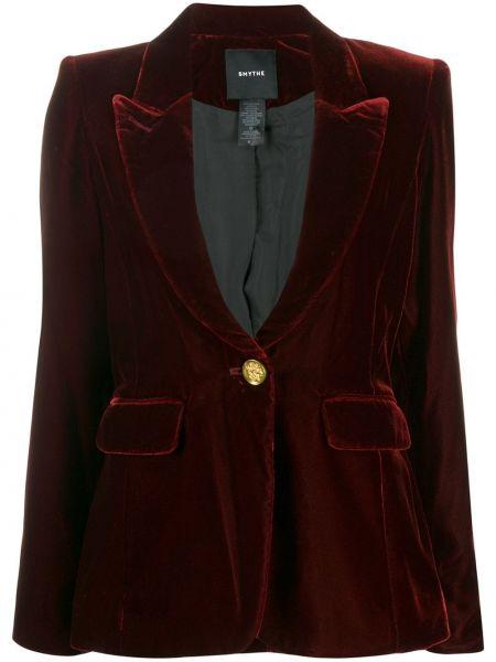 Красная велюровая куртка с лацканами на пуговицах Smythe