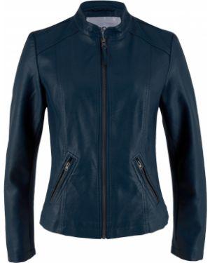 Кожаная куртка джинсовая на молнии Bonprix