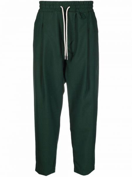 Zielone spodnie bawełniane Drole De Monsieur