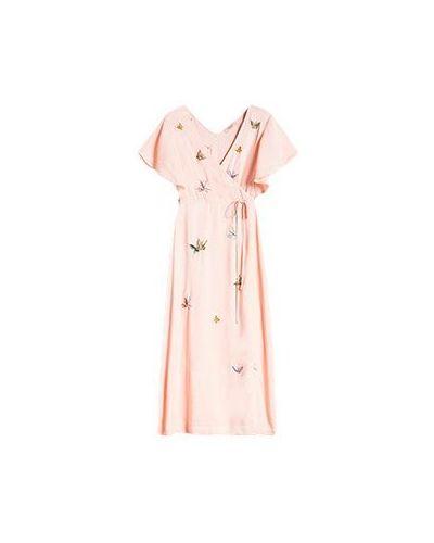 Коктейльное платье розовое Twinset