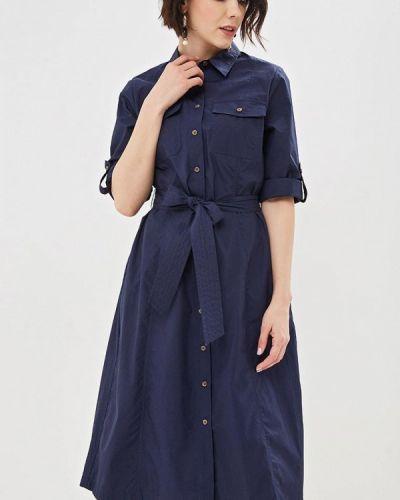 Повседневное платье весеннее синее Marks & Spencer