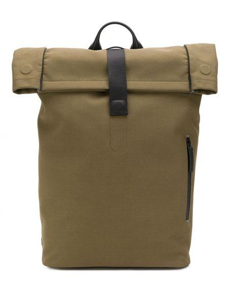 Plecak skórzany - zielony Troubadour