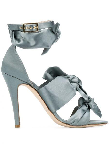 Sandały skórzany z klamrami Gia Couture
