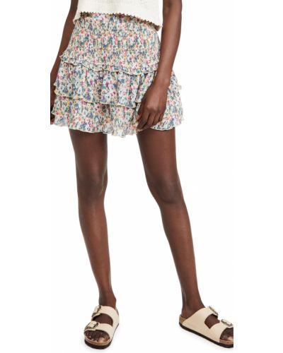 Бежевая плиссированная юбка на резинке English Factory