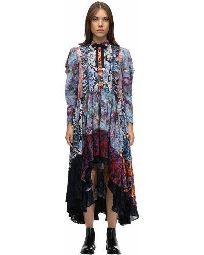 Платье на пуговицах пэчворк Coach
