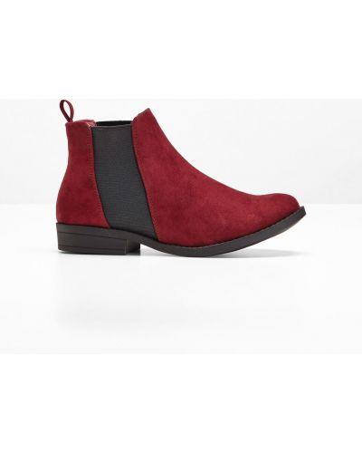 Красные ботинки челси Bonprix