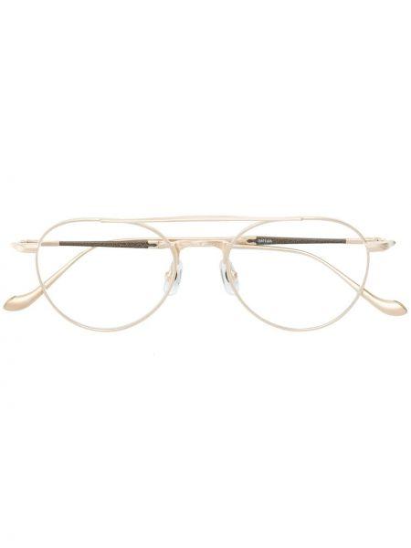 Złote okulary khaki Matsuda