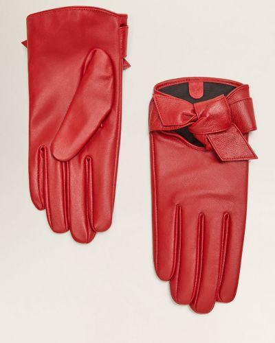 Кожаные перчатки из полиэстера Mango