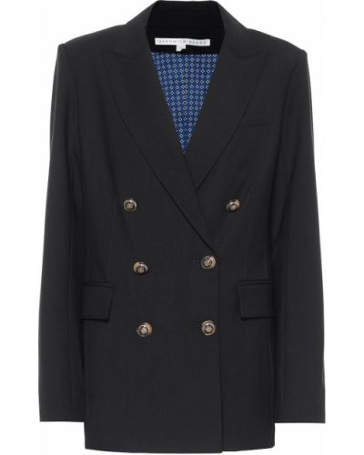 Шерстяной деловой синий пиджак Veronica Beard