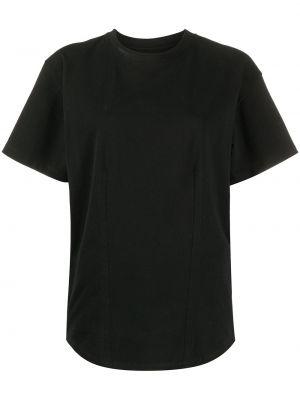 Хлопковая футболка - черная Isabel Marant