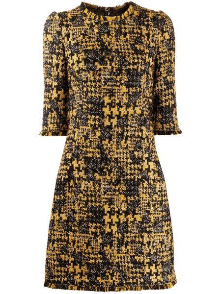 Платье на молнии черное Dolce & Gabbana