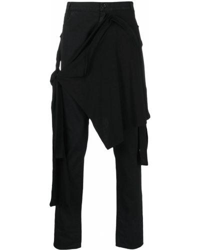 Czarne сhinosy z paskiem bawełniane Raf Simons