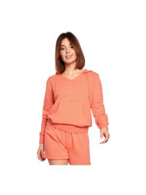 Bluza dresowa - pomarańczowa Be