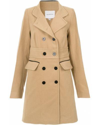 Коралловое приталенное длинное пальто Olympiah