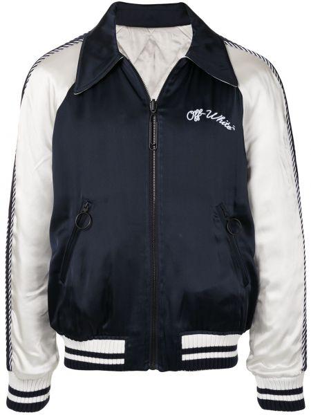Biały długa kurtka z mankietami z długimi rękawami z kieszeniami Off-white