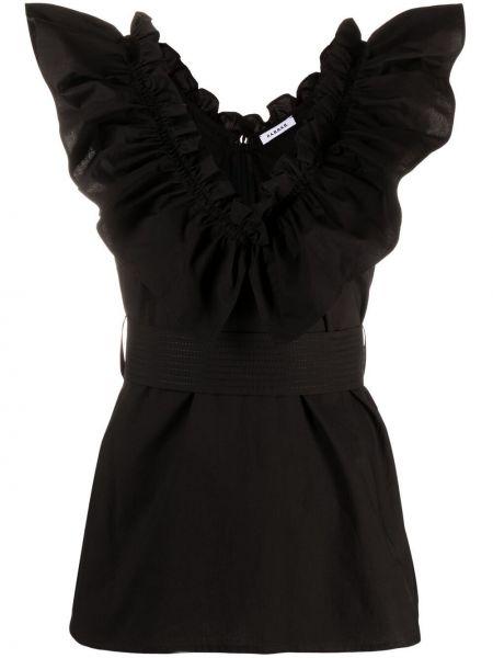 Хлопковая черная блузка без рукавов P.a.r.o.s.h.