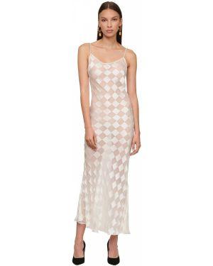Платье миди с бисером на бретелях Rowen Rose