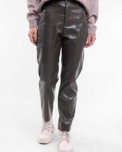 Кожаные брюки хаки Bessa