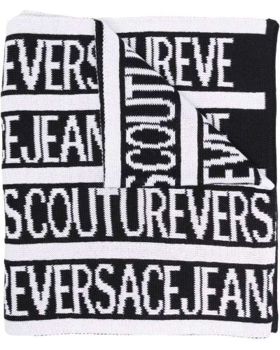 Biały szalik wełniany Versace Jeans Couture