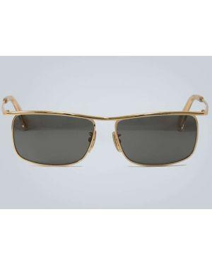 Солнцезащитные очки металлические - черные Celine Eyewear