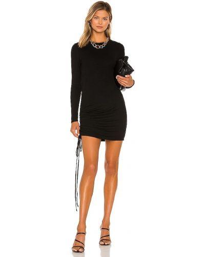 Платье макси с длинными рукавами - черное La Made