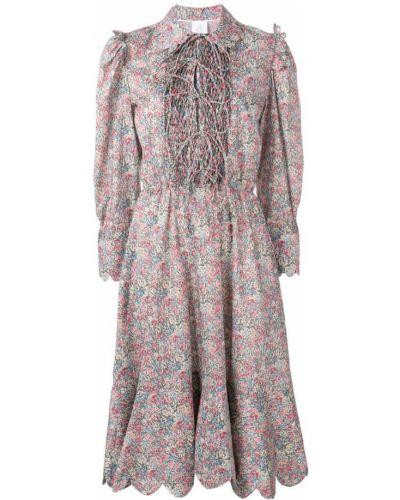 Классическое платье миди на шнуровке Horror Vacui