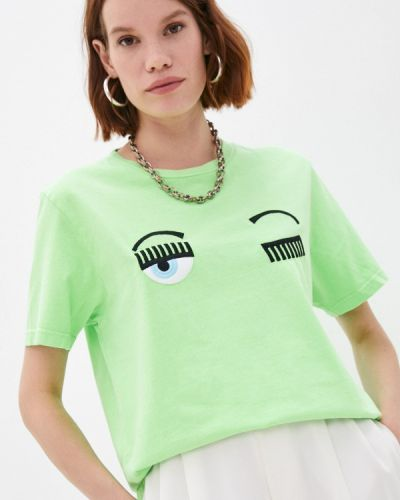 Зеленая итальянская футболка Chiara Ferragni Collection