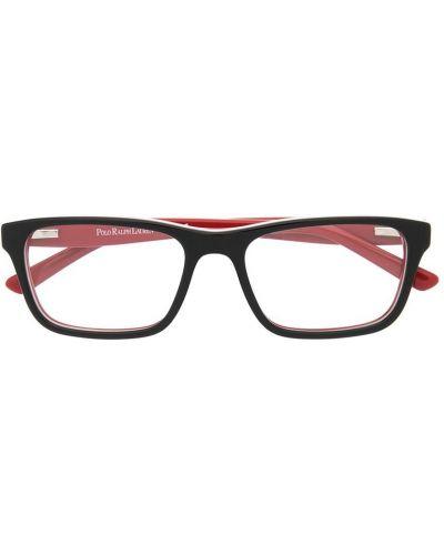 Черные очки прозрачные прямоугольные Polo Ralph Lauren