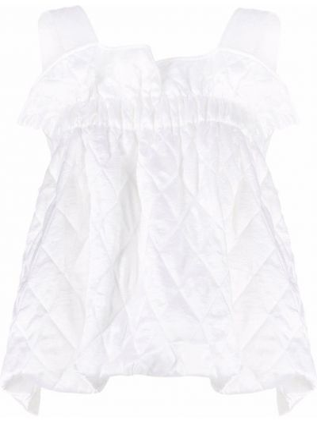 Асимметричный белый топ без рукавов Comme Des Garçons Noir Kei Ninomiya