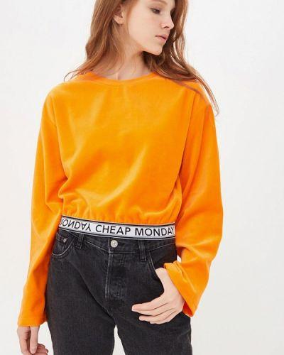 Оранжевый свитшот Cheap Monday