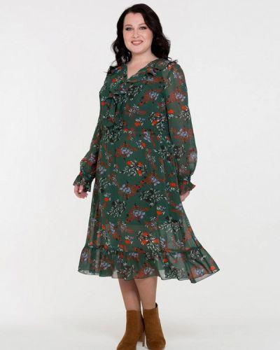 Платье осеннее зеленый Intikoma
