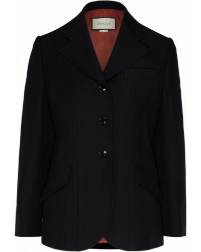Пиджак черный шерстяной Gucci