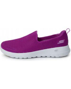 Облегченные спортивные фиолетовые текстильные слипоны Skechers
