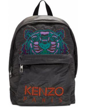 Plecak z haftem ciemno szary Kenzo
