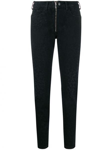 Джинсовые прямые джинсы - черные Marcelo Burlon. County Of Milan