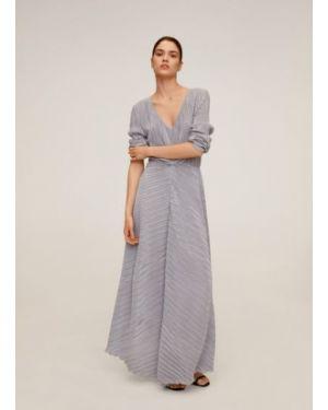 Платье миди с V-образным вырезом прямое Mango