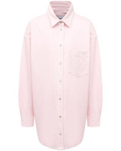 Хлопковая рубашка - розовая Forte Dei Marmi Couture