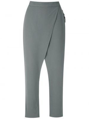 Серые брюки с запахом с высокой посадкой из вискозы Uma   Raquel Davidowicz