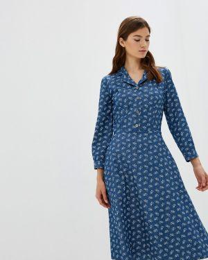 Платье прямое синее Po Pogode
