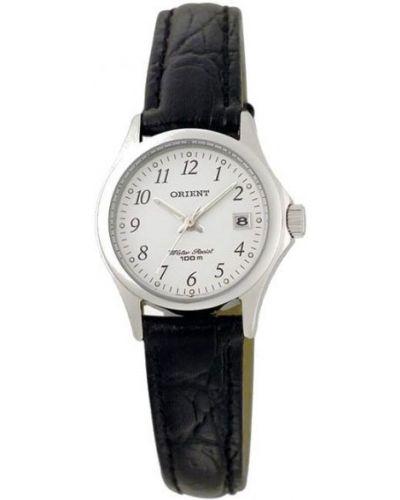 Водонепроницаемые часы на кожаном ремешке с подсветкой Orient