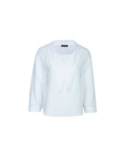 Белая блузка Emporio Armani