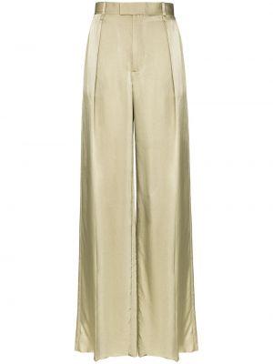 Свободные брюки со складками свободного кроя с высокой посадкой из вискозы Bottega Veneta
